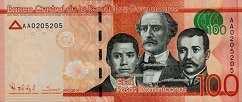 Доминиканская Респ.: 100 песо 2014-16 г.