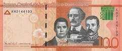 Доминиканская Респ.: 100 песо 2017 г.