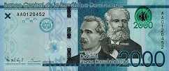 Доминиканская Респ.: 2000 песо 2014 г.
