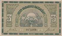 Эстония: 3 марки 1919 г.