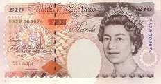 Англия: 10 фунтов 1993-2000 г.