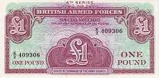 Военные Силы Великобритании: 1 фунт (1962 г.)