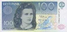 Эстония: 100 крон 1992 г.