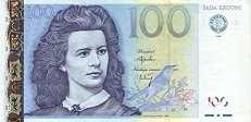 Эстония: 100 крон 1999 г.