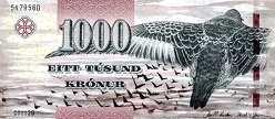 Фареры: 1000 крон 2011 г.