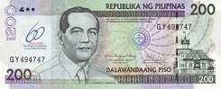 Филиппины: 200 песо 2009 г. (юбилейная)