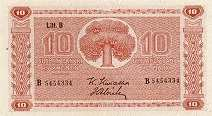 Финляндия: 10 маркок 1945 г.
