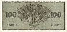 Финляндия: 100 маркок 1955 г.