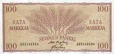 Финляндия: 100 маркок 1957 г.