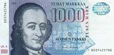 Финляндия: 1000 маркок 1986 г.