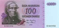 Финляндия: 100 маркок 1976 г.