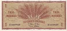 Финляндия: 1 марка 1963 г.