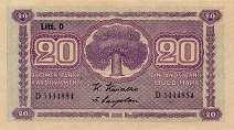 Финляндия: 20 маркок 1939 г.