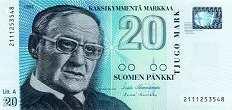 Финляндия: 20 маркок 1993 г.
