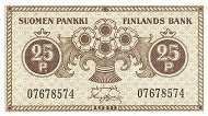 Финляндия: 25 пенни 1918 г.