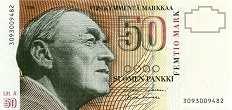 Финляндия: 50 маркок 1986 г.