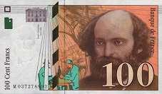 Франция: 100 франков 1997-98 г.