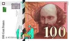 Франция: 100 франков 1998 г.