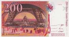 Франция: 200 франков 1995 г.
