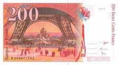 Франция: 200 франков 1997 г.