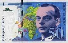 Франция: 50 франков 1996 г.