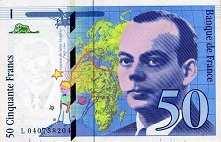 Франция: 50 франков 1997 г.