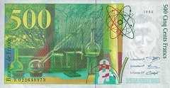 Франция: 500 франков 1994 г.
