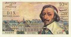Франция: 10 новых франков 1959-63 г.