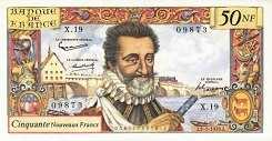 Франция: 50 новых франков 1959-61 г.