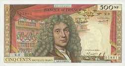 Франция: 500 новых франков 1959-66 г.