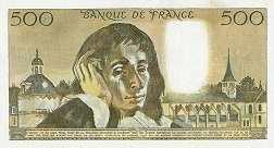 Франция: 500 франков 1968-93 г.