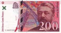 Франция: 200 франков 1995-99 г.