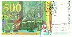 Франция: 500 франков 1994-2000 г.
