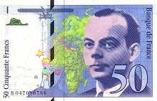 Франция: 50 франков 1992-99 г.