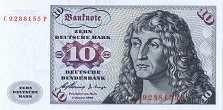 ФРГ: 10 марок 1960 г.