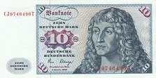 ФРГ: 10 марок 1980 г. (с надписью)