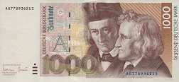 ФРГ: 1000 марок 1991-93 г.