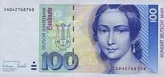 ФРГ: 100 марок 1989-93 г.
