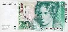ФРГ: 20 марок 1991 г.