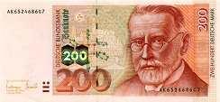 ФРГ: 200 марок 1996 г.