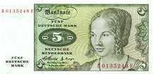 ФРГ: 5 марок 1960 г.