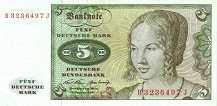 ФРГ: 5 марок 1970 г.