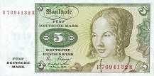 ФРГ: 5 марок 1980 г.