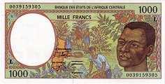 Габон: 1000 франков CFA-BEAC (1993-2002 г.)