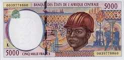 Габон: 5000 франков CFA-BEAC (1994-2002 г.)