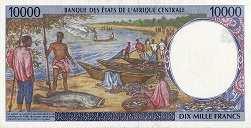 Габон: 10000 франков CFA-BEAC (1994-2002 г.)