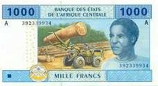 Габон: 1000 франков CFA-BEAC 2002 г.