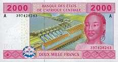 Габон: 2000 франков CFA-BEAC 2002 г.