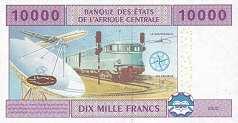 Габон: 10000 франков CFA-BEAC 2002 г.