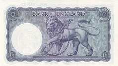 Англия: 5 фунтов (1960-63 г.)